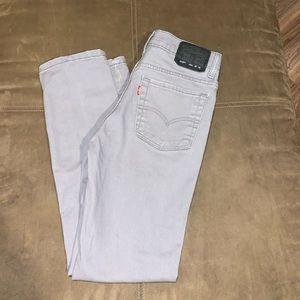 Men's Levi's 510 Skinny Gray Size 28x28 16 Regular